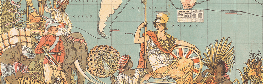 Detail from map of the British Empire in 1886