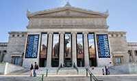 front view of The Field Museum in Chicago