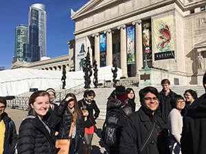 Humanities Plunge students outside The Field Museum