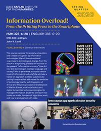 Poster for Information Overload! course